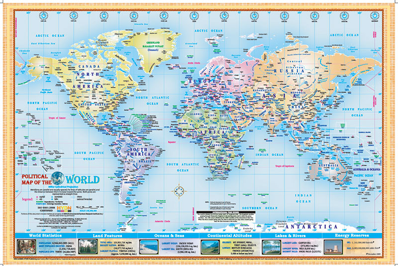 Hydn publishing maps and charts political map of the world gumiabroncs Gallery