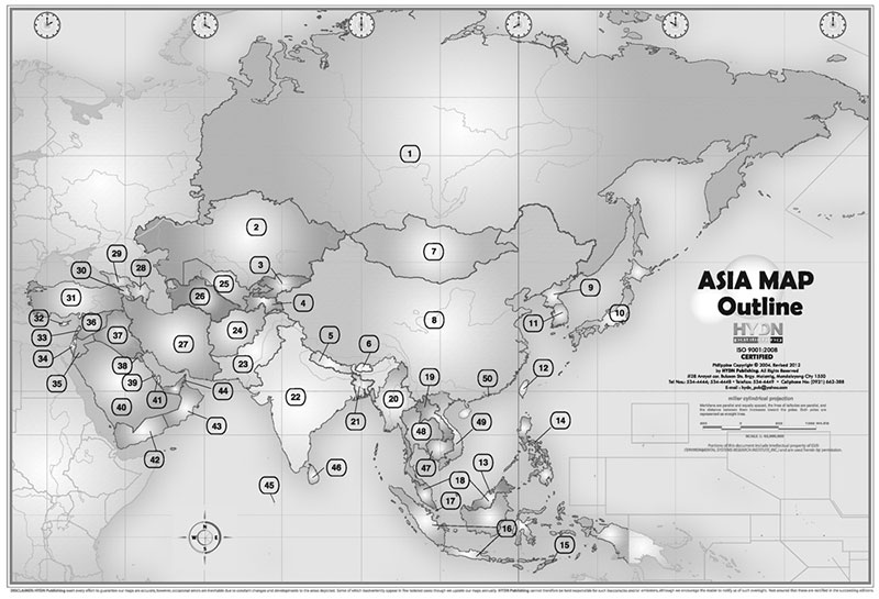 Hydn publishing maps and charts political map of asia philippines and the world outline gumiabroncs Images
