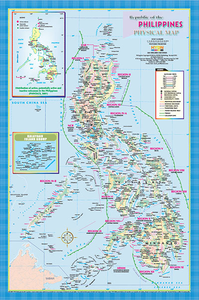 Hydn publishing maps and charts physical map of the philippines gumiabroncs Images