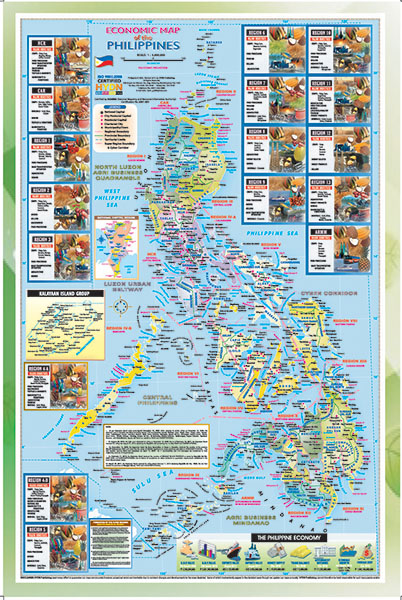 HYDN Publishing Maps And Charts - Map of the phillipines